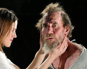 Pete Postlethwaite and Amanda Hale in King Lear