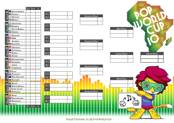 Pop World Cup Wallchart