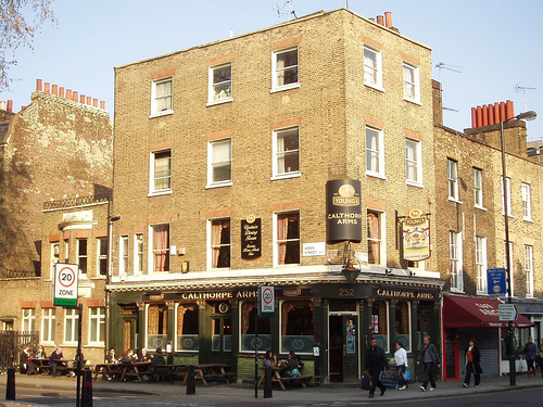 The Lovely Lovely Calthorpe Arms, look how lovely it is. Wouldn't you like to go for a pint there right now?